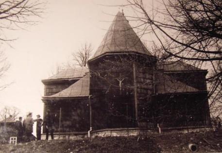 Widok od strony wschodniej z drogi Czudec - Pstrągowa